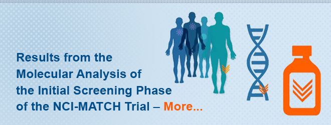 Results from the Molecular Analysis of the Initial Screening Phase of the NCI-MATCH Trial. More...