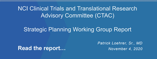 CTAC Strategic Planning Workgroup Report
